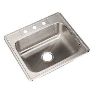 Houzer Sinks Home Depot by Houzer Glowtone Series Drop In Stainless Steel 25 In 3