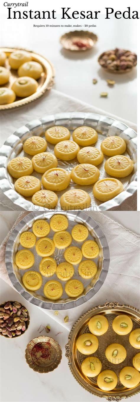 cuisiner indien instant kesar peda saffron infused fudge wedding