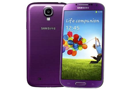 samsung galaxy s4 colors samsung galaxy s4 now available in purple mirage and pink