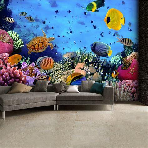 sea tropical fish wallpaper mural cm  cm