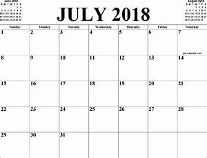 Calendar July 2017 To June 2018 – Calendar Template 2018-2019