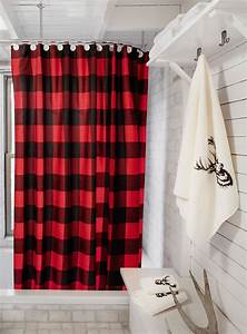 Rideau Rouge Et Noir : le rideau de douche carreaux buffalo to live in pinterest carreaux buffalo rideaux de ~ Teatrodelosmanantiales.com Idées de Décoration