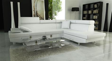 canape simili cuir blanc canape design simili cuir