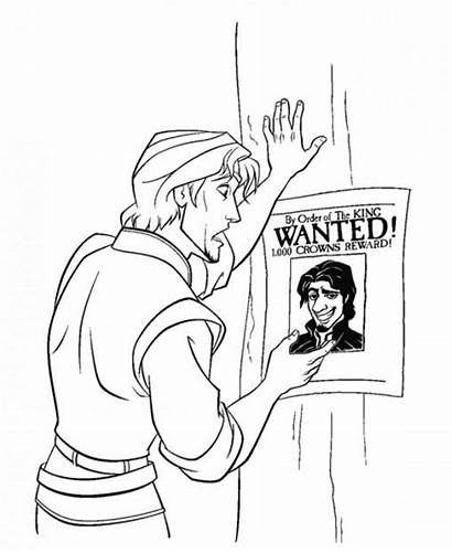 Coloring Flynn Rider Tangled Imprimer 360coloringpages Raiponce