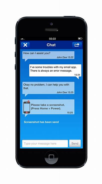 Teamviewer Chat Ios Screen Phone Remote Support