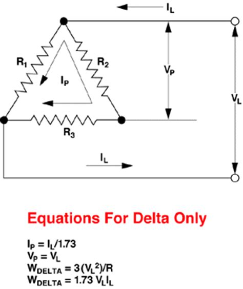 Phase Wye Delta Wiring Diagrams Equations Thermaloop