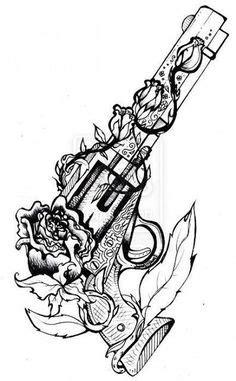 Die 16 besten Bilder von Pistolen Tattoos | Pistolen