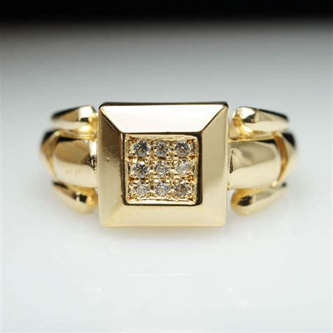 Vintage Estate Diamond Square Block 18k Yellow Gold Ring. Pine Tree Wedding Rings. Palladium Rings. Onyx Engagement Rings. Cartoon Rings. Five Finger Rings. Faith Wedding Rings. Beautiful Unique Wedding Wedding Rings. Horizontal Rectangle Engagement Rings