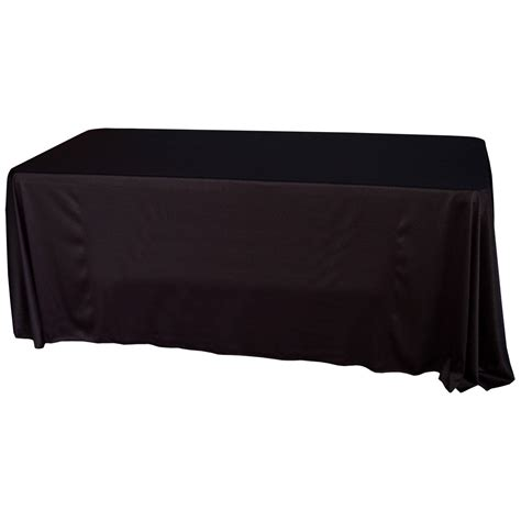 Table Drape With Logo - traditional table cover with optional logo trade show