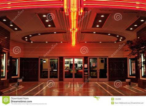 vintage theater lobby stock photography image 1452062