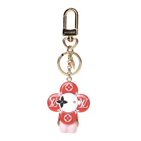 louis vuitton giant monogram vivienne bag charm  key holder rouge