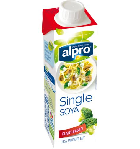 plant based alternative small soya single alpro