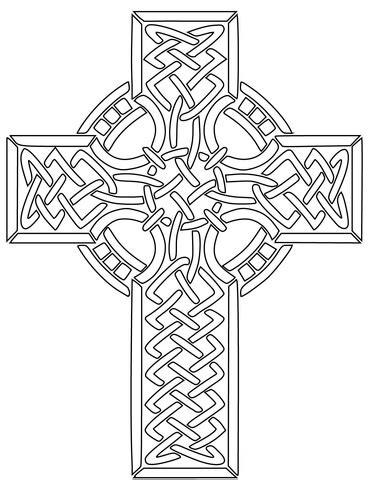 Coloriage - Croix celte | Coloriages à imprimer gratuits