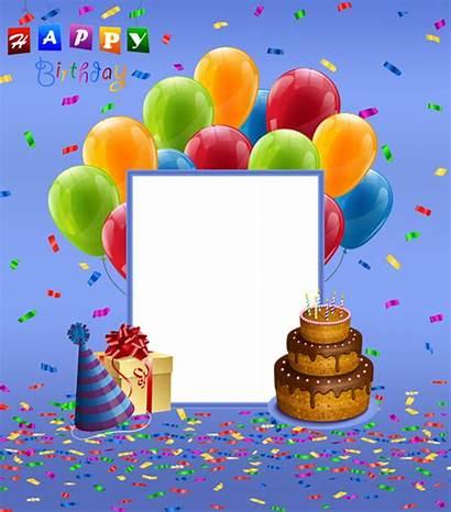 Birthday Transparent Happy Frame Frames Clipart Invitation