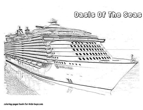 Cruise Ship Coloring Free Colouring Pages 848124