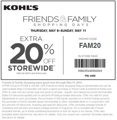 kohls off coupon
