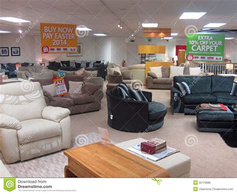 showroom in a furniture store editorial photo image