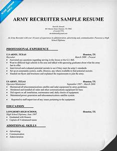 Army recruiter resume resume ideas for Army recruiter job description resume