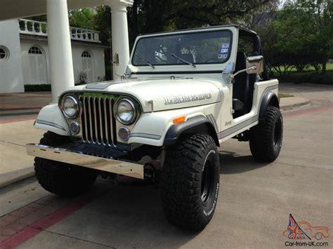 jeep amc classic white 1983 amc jeep cj 7 4x4 cj cj7 wrangler 258
