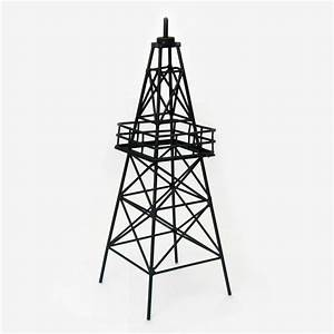 "13 5"" Metal Oil Derrick Centerpiece Texas Country"