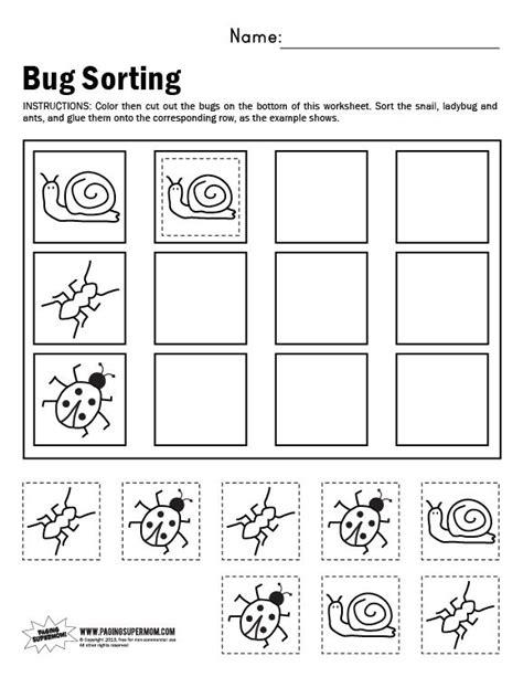 Bug Sorting Worksheet  Paging Supermom  Preschool  Pinterest  Supermom, Worksheets And Rocks