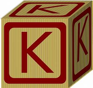 letter alphabet block k clip art at clkercom vector With block letter art