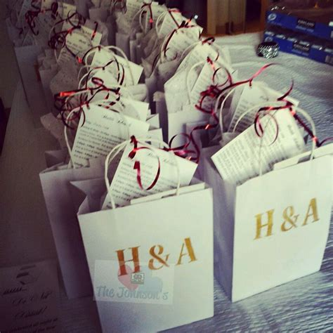 diy wedding welcome gift bags for out of town guests