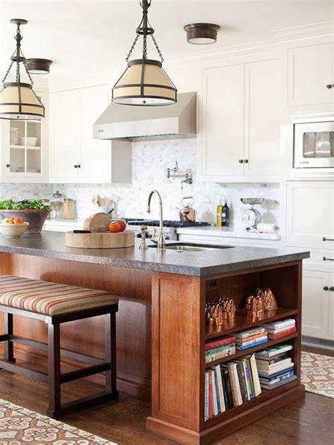 contrasting kitchen island   colour