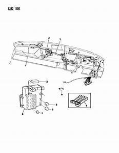 1989 Dodge Ramcharger Instrument Panel Wiring