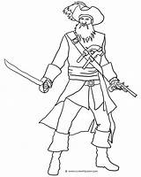 Pirate Pages Coloring Blackbeard Sword Ship Drawing Adults Printable Template Map Getcoloringpages Getdrawings Clipartqueen Hook sketch template
