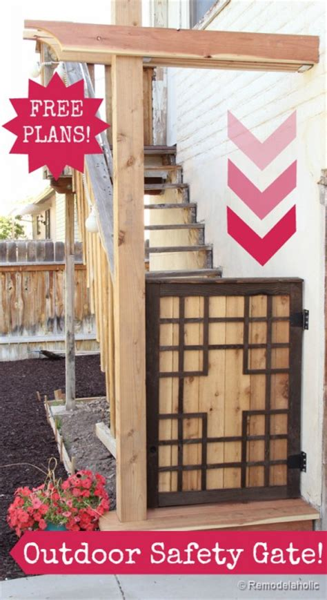 diy outdoor tall baby gate  deck stairs