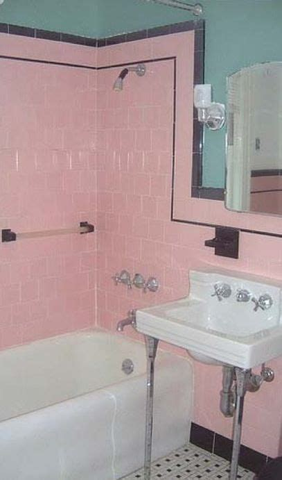 Modern Pink Tile Bathroom by Original 1930s Bathroom Pink Tiles Are Classic Colour