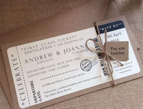 1 Vintage/shabby Chic Style Ticket Wedding Invitation