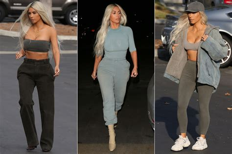 Kim Kardashian Wore 9 Yeezy Outfits in One Day | PEOPLE.com