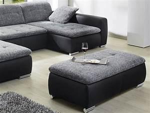 Xxl Sofa Mit Hocker : sofa couch ferun 365x200 185cm mit hocker anthrazit schwarz wohnbereiche wohnzimmer sofa ~ Bigdaddyawards.com Haus und Dekorationen