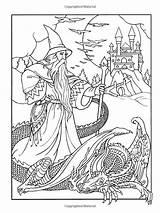 Coloring Wizard Adults Wizards Dover Noble Colouring Dragon Sheets Marty Adult Printable Wondrous Magic Awesome Pagan Results Abc Mandala Drawing sketch template