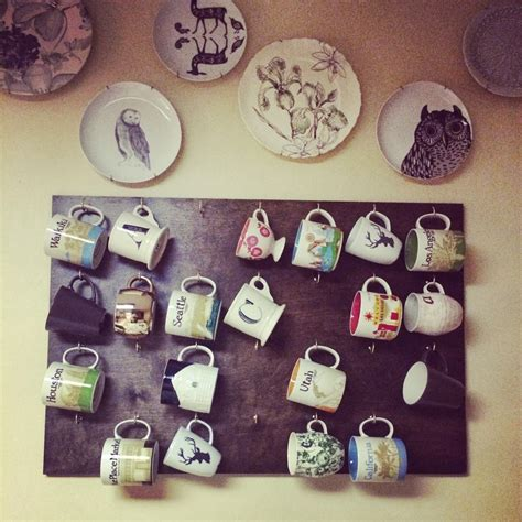 One thing that you may not know about me is that i have an obsession with mugs. My Mini Menagerie: Pinterest Project: DIY Wall Coffee Mug Rack... How things are never as easy ...