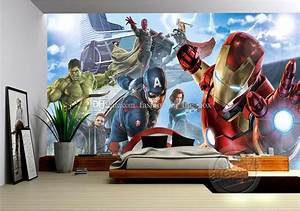 Avengers Boys Bedroom Photo Wallpaper Custom 3d Wall ...
