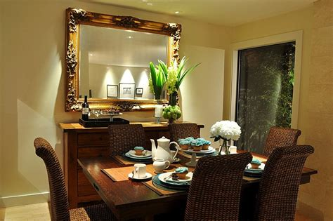 decorate mirrored dining table loccie