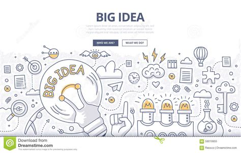 big idea doodle concept stock vector illustration