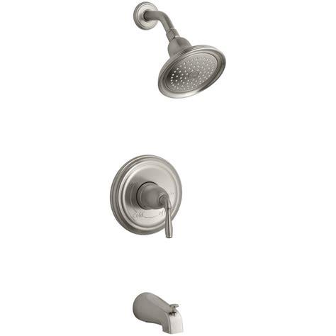 kohler devonshire faucet brushed nickel kohler devonshire 1 handle rite temp tub and shower faucet