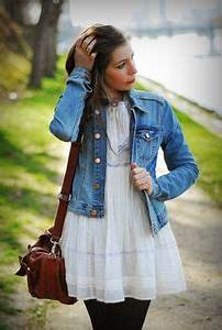 1000 images about veste en jean on pinterest denim With h m robe blanche