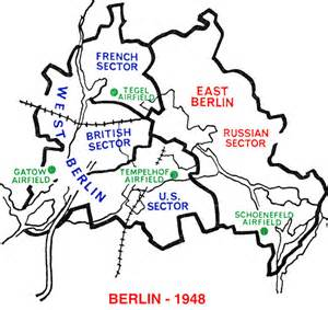 Berlin Blockade and Airlift Map
