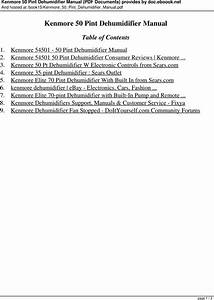 Kenmore Humidifier 15420 Owners Manual