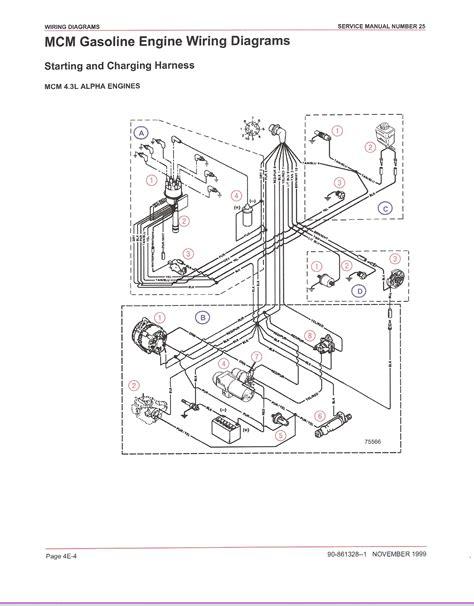 Mercruiser 5 7 Alternator Wiring Diagram by Mercruiser Electrical Diagrams Camizu Org