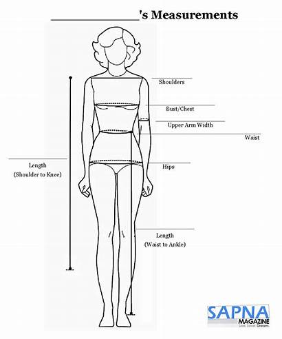 Measurements Measurement Chart Clothing Tailor Chest Sewing