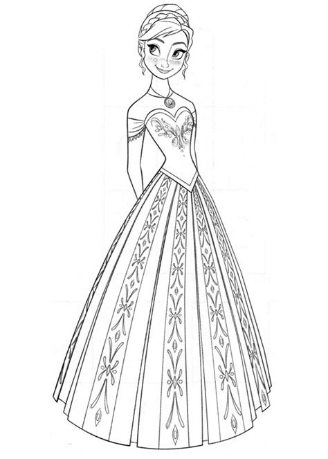 princess anna coloring page  printable coloring pages  kids
