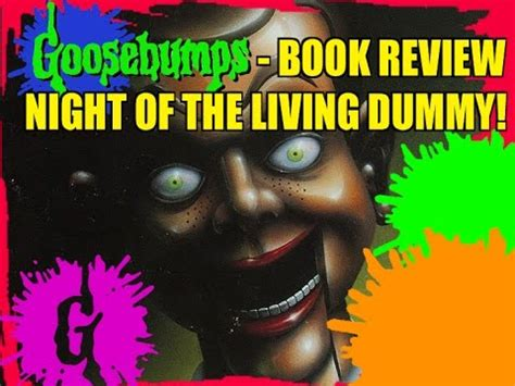 Goosebumps Book Review  Night Of The Living Dummy! Youtube