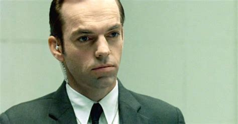 hugo weaving agent hugo weaving reprises his role as the matrix s agent smith