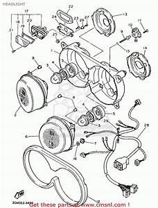 Yamaha Fzr1000 1989 3gm2 Spain 293gm-352s1 Headlight